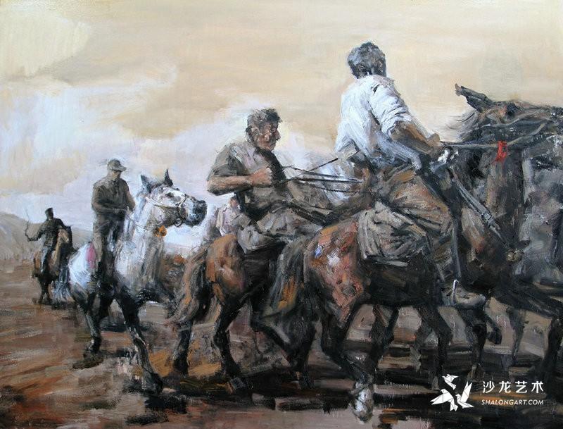 《马背上的民族》200cm×150cm