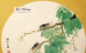 蝉鸣图50X50 (10)