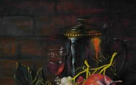 《静物》 —  宽45高75cm  色粉画   2010年