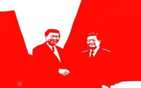 【剪纸作品】《新闻系列八》345mm×255mm 材质:红宣纸