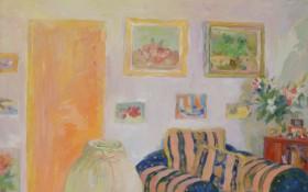 《沙发组画之五》十届美展铜奖73×54cm