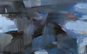《石板岩的猫》50x60