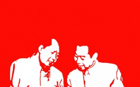 【剪纸作品】《新闻系列六》 460mm×350mm 材质:红宣纸