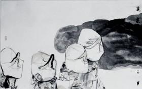 三月跳花坡,2007年(122cmX204cm)
