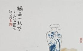 禅是一枝花68x68 cm