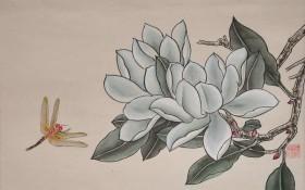 《工笔花鸟》(2)68×34cm