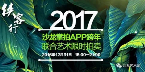 先睹为快丨2017沙龙联合跨年艺术限时拍卖即将开始!