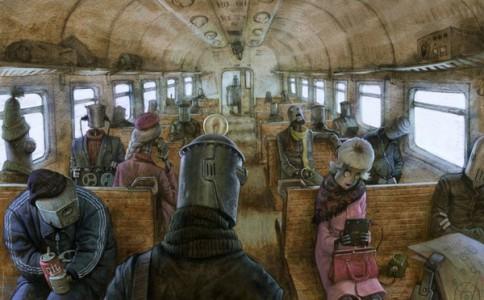 Vladimir Kazak插画:世界充满疯狂