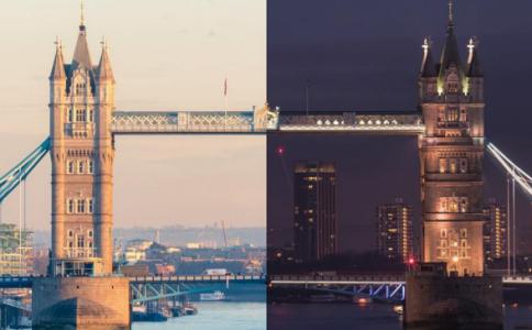 酷毙了!一个画面拍下伦敦日与夜的延时摄影