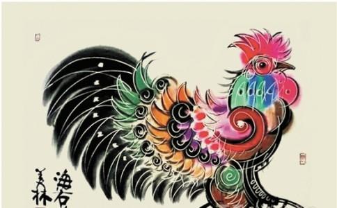 韩美林画笔下的鸡自得一种韵味