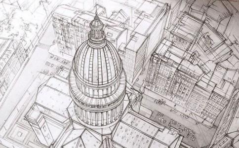 看到这些建筑草图就像打开了新世界的大门