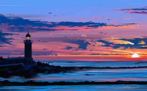 夕阳|乌克兰艺术家Alena Aenami把照片排成了油画