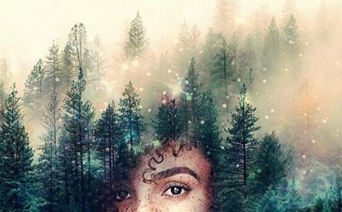 华丽星系的黑人女性肖像视觉艺术