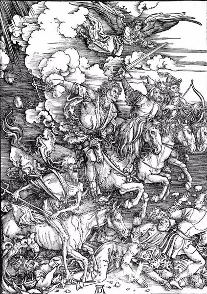 《启示录》中的《四骑士》,1498年