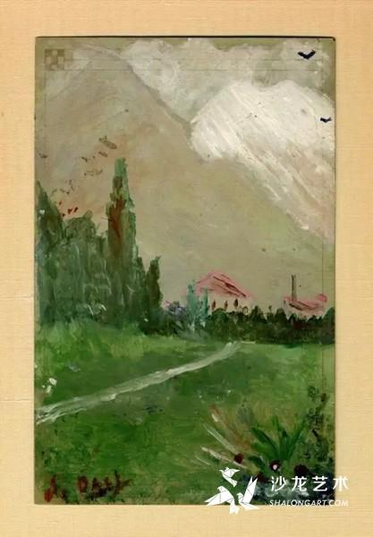 萨尔瓦多达利,Landscape of Figueres,1910-1914,6到10岁之间。
