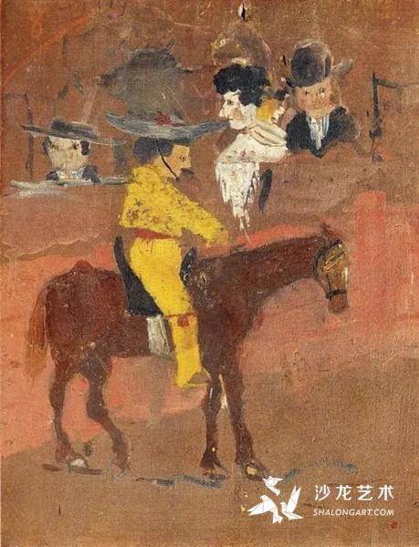 巴勃罗·毕加索9岁时创作,斗牛士,1890年