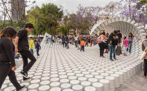 被波浪席卷的墨西哥建筑节