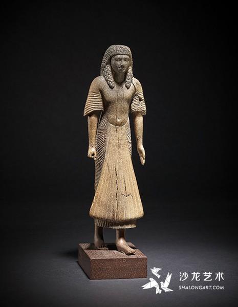 《妇女像》(Female Figure),古埃及第18王朝,约前1400年,木质,高32厘米,伦敦大英博物馆