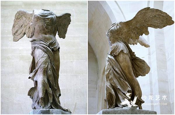 《萨莫色雷斯的胜利女神》(Winged Victory of Samothrace),前190年,高244厘米,巴黎卢浮宫博物馆