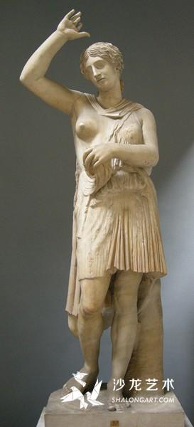 《受伤的亚马逊女战士》(Wounded Amazon),前430年,大理石,高200厘米,罗马卡比托利欧的博物馆