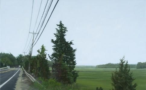 超写实主义油画:天空之下,漫无经心
