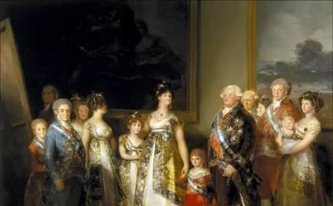 戈雅笔下的查理四世一家:混乱的王室关系