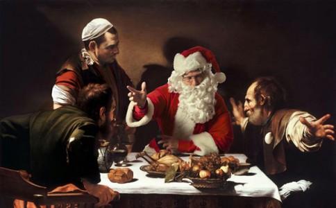 当艺术家碰上圣诞老人