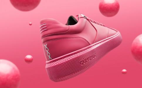 口香糖运动鞋亮相阿姆斯特丹街区